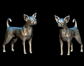 Chihuahua dog high poly 3D printable model