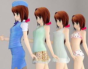 3D Karin anime girl pose 1