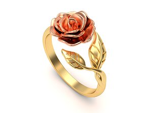 3D printable model Ladies Gold Rose Ring