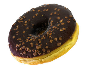 Chocolate Donut 3D model dunkin
