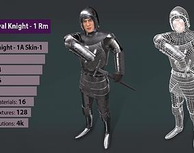 3D asset TAB Medieval Knight - 1Rm A - Skin1