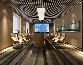 3D Conference room office reception hall 28