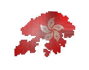 3D model Hong Kong Map Cube Style v1 002