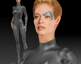 Seven of Nine Jeri Ryan Star Trek 3d print Figurine 1