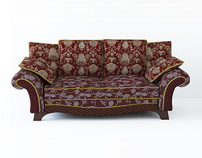 Low poly fabric sofa in a slightly primitive 3D model 1