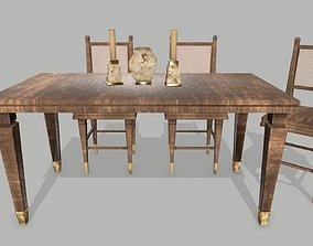3D model VR / AR ready Table Set