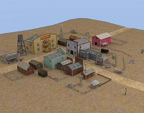 3D model Western town