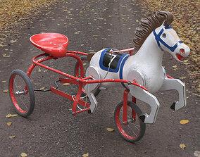 Vintage Soviet Horse Tricycle Pedal Car 3D model