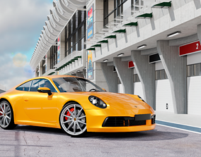 VR / AR ready Porshe 911 carrera s coupe 2019 MODEL