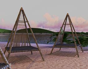 Beach Teepee - Resting Zone 3D model