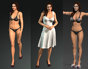 3D model Deepika Padukone Bollywood Actress Hot