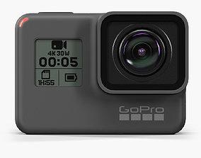 GoPro Hero5 Black action camera 3D asset
