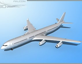 rigged Falcon3D A340-600 FBMetal