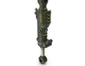 art 3D model Sci-fi hydraulic plunger