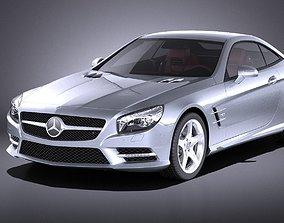 Mercedes SL 2015 VRAY 3D model cars
