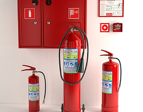 3D model Fire extinguishers and Fire equipment