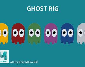 Ghost Cartoon Rig 3D asset