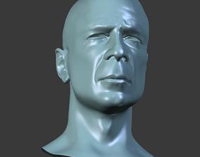 3D model Bruce Willis face topology