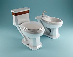 VB Bidet Toilet Set 3D model