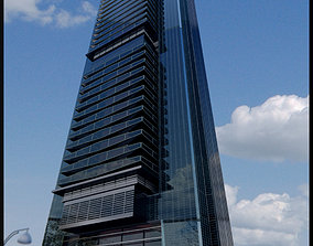 Skyscraper cityscape 3D model realtime