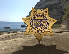 Arizona Police Departament Star 3D PBR