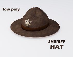 Sheriff Hat 3D model realtime