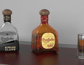 Tequila Don Julio Bottle 3D asset