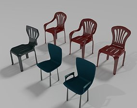 Plastic Chairs Collection 5 3D model