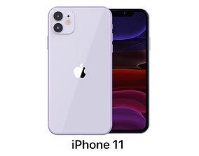 Apple iPhone 11 Purple 3D