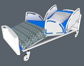 3D model Hospital Intensive Care Bed