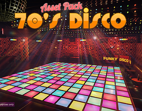 Low-Poly 70s Disco Pack 3D model