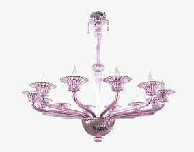 3D Twelve-Arm Handblown Murano Glass Venetian Chandelier 1