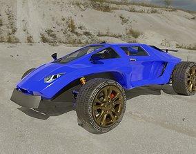 3D asset Car 4x4 riged