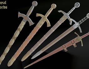 3D model Royal swords