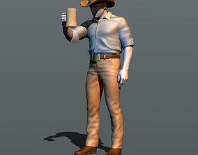 3D print model Drunk cowboy