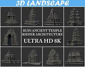 3D model Ruin Ancient Temple - Khmer Architecture Pack B