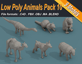 realtime Low Poly 3d Art Animals Isometric Icon Pack 10