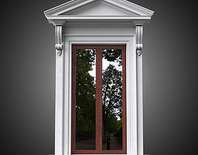 Classical window with pointed pediment 3D model