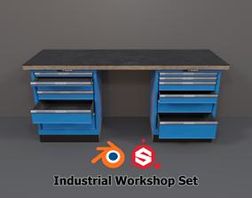 3D asset Industrial Workshop Workbench 1 PBR
