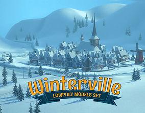 3D asset low-poly Winterville