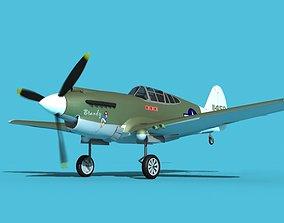 3D model Curtiss P-40B Warhawk V14 USAAF