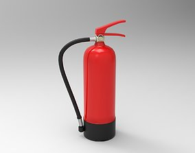 Stilized Fire Extinguisher red 3d model game-ready