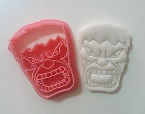 3D print model Hulk face cookie cutter