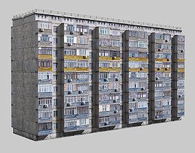 3D asset Plattenbau buildings pack