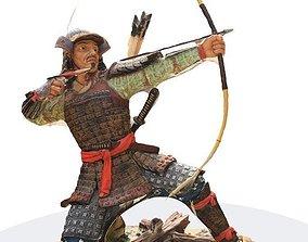 Ronin samurai 3d scan statue archer