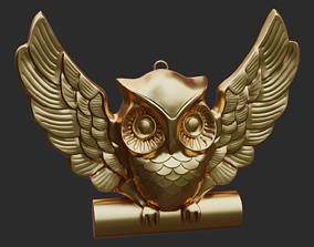 clay 3D printable model Decorative Owl