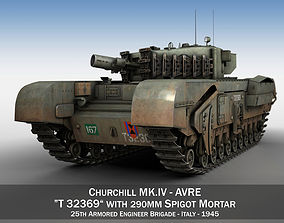 Churchill MK IV AVRE - T32369 3D model