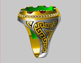 Men - Ring silver-ring 3D printable model