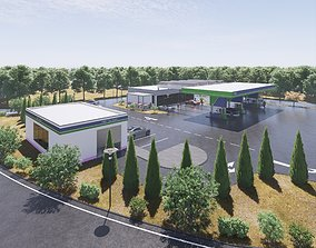 Gas station 3D PBR