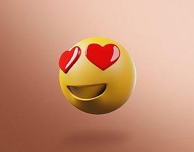 3D Emoji heart eyes